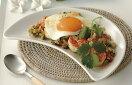【日本製の1級品を40%OFF】白クレセント前菜24cmプラター小