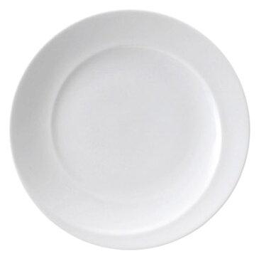 白スネール 17cm パン皿特白磁