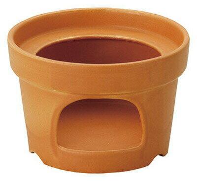 ラッパ型 フリーウォーマー オレンジ固形燃料OK 日本製耐熱陶器フォンデュ バーニャカウダ 一人鍋に。固形燃料が使える卓上コンロ