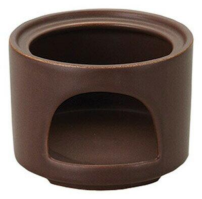 11cm 茶 切立ウォーマー 大 (固形燃料用) 日本製 卓上コンロ耐熱陶器