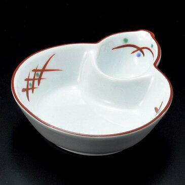 10.5cm むさしの 瓢型仕切り鉢(強化食器)和え物、お浸し、お惣菜、炊きもの、煮物、お漬物、おばんざいの盛り付けに15cm以下の便利な和鉢・変形鉢