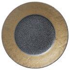 washi 雲母 27cm ディナープレート 和紙を映した上品なリム彫刻 煌と影のコントラスト 日本製 和 洋に使える上品かつ個性的なフレンチプレート