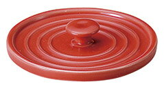 健康鍋 オニオンボール専用の蓋 赤D9.6cmxH6cm 日本製 美濃焼耐熱陶器
