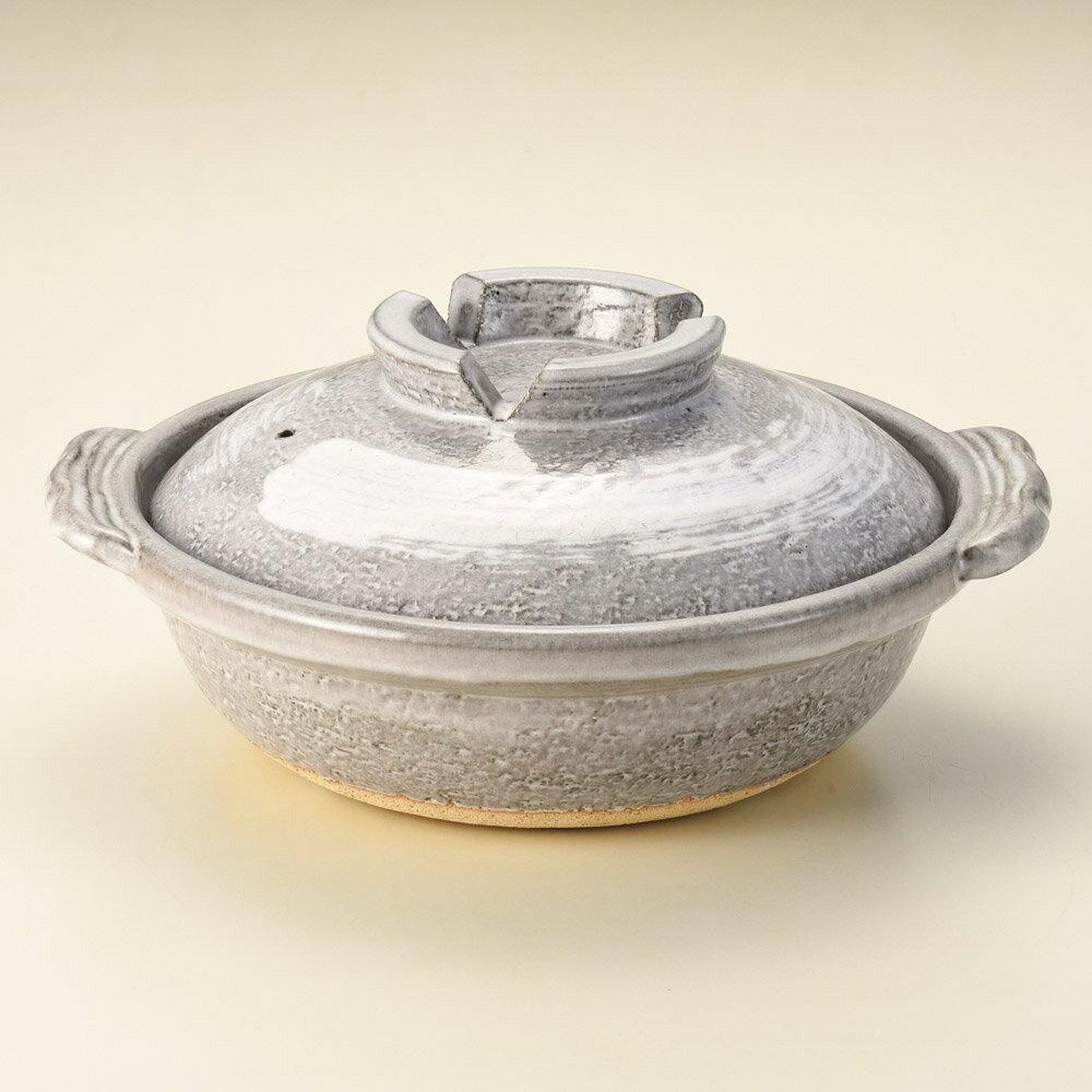【信楽焼の直火用 土鍋が問屋価格で】灰刷毛 7号 1〜3人用エスニック鍋 (信楽焼) 日本製のテーブルに運んでからも冷めにくく、温かい土鍋