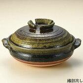 【信楽焼の土鍋が問屋価格で!】織部流 9号 4〜5人用土鍋日本製のテーブルに運んでからも冷めにくく、温かい土鍋