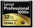 UDMA7対応で驚異の1000倍速!別次元のスピードを体感できる【Lexar Professional 1000x 32GB CompactFlash Card 】レキサー プロフェッショナル 1000倍速 32GB コンパクトフラッシュカード