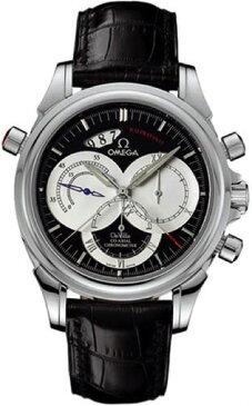 [オメガ]OMEGA 腕時計 デ・ビルコーアクシャルラトラパンテ ブラック文字盤 自動巻 アリゲーター革ベルト 裏蓋スケルトン 100M防水 4847.50.31 メンズ・お取寄
