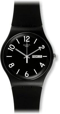 スウォッチSWATCHNEWGENT(ニュージェント)BACKUPBLACK(バックアップ・ブラック)SUOB715メンズ腕時計