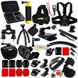 GoPro互換品 MCOCEAN スポーツカメラアクセサリーキット キャリーケース付き 27品 MCOCEAN Accessory Kit for GoPro Hero 1/ 2/ 3/ 3+/ 4 - Black MCOCEAN-A-G-0091