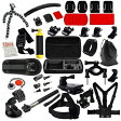 GoPro互換品 MCOCEAN カメラアクセサリーキット 38品 キャリーケース付き MCOCEAN Accessory Kit for GoPro Cameras (Silver Black, 38-Pieces) 38 Accessories
