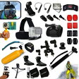 Xtech GoPro互換品 37品 プロフェッショナル アクセサリーキット ツーリング サイクリング Xtech Professional 37 Piece Accessory Kit for GoPro