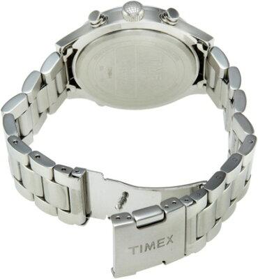 タイメックスTIMEXインテリジェントクォーツワールドタイムブラックダイアルメタルブレスレットT2N944メンズ腕時計