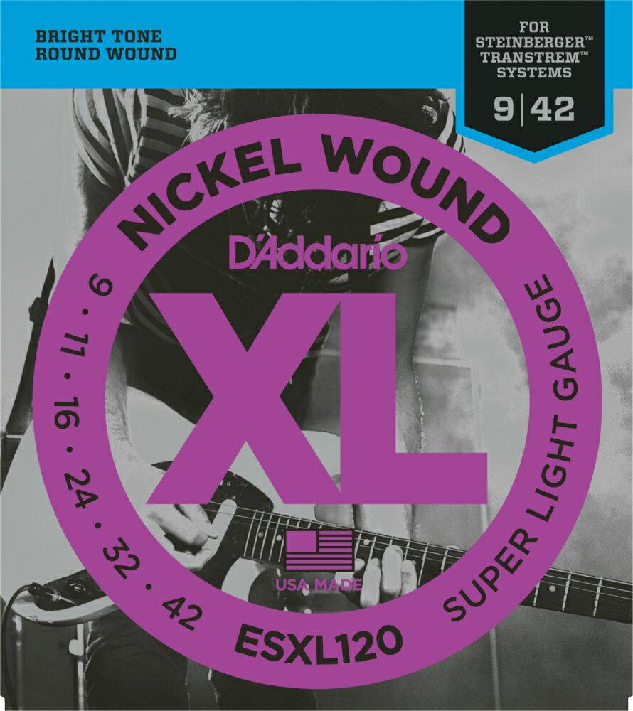 ギター用アクセサリー・パーツ, エレキギター弦 DAddario ESXL120 (Steinberger) XL Nickel Round Wound daddario ESXL-120