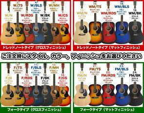 アコースティックギターHONEYBEEW-15/F-158点入門セット