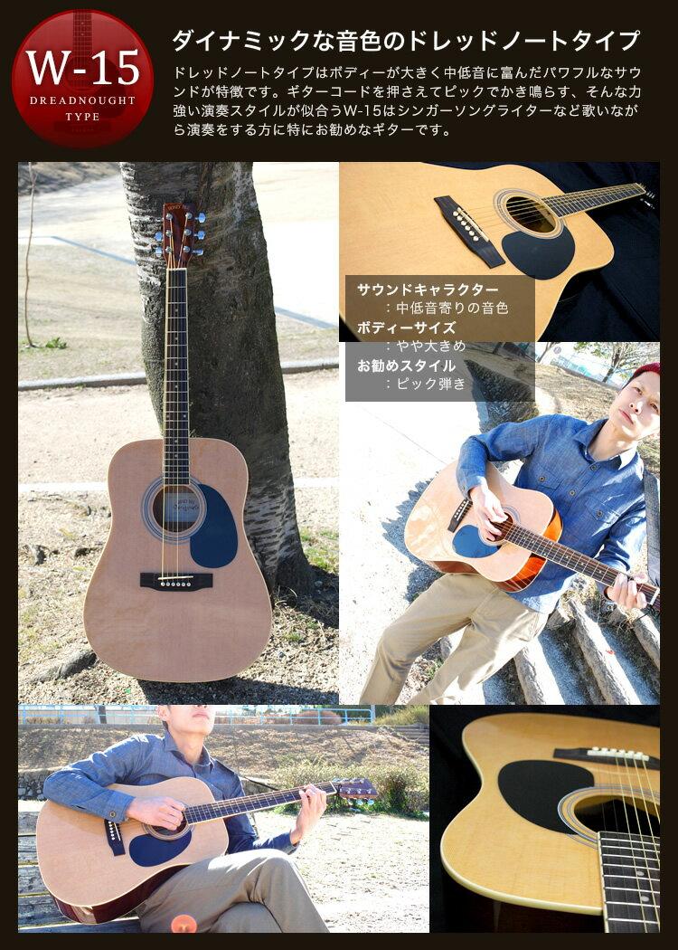 アコースティックギター HONEY BEE W-15/F-15 アコギ リミテッドセット