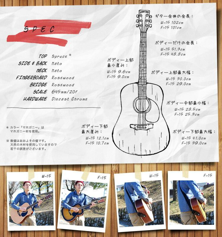 アコースティックギター HONEY BEE W-15/F-15 16点 初心者セット