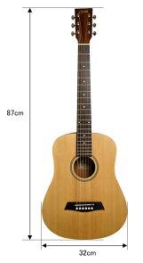 S.Yairi左利き用コンパクトアコースティックギターYM-02入門セット