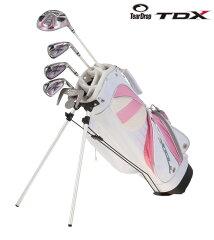 スタンドバッグ付き子供用ゴルフセット(女の子用)TearDrop(ティアドロップ) TDX-III TDLJ-0...