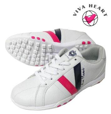 VIVA HEART(ビバハート) レディースゴルフシューズ VHK005 ホワイト スパイクレスタイプ