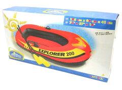 海に、プールに!すぐに遊べるフルセット!!INTEX ツーマンボート エクスプローラー200 オ...