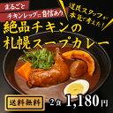 【ランキング上位入賞】絶品チキンの札幌スープカレー 2食 セット 送料無料 スープカレー レトルト