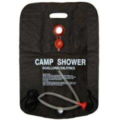 太陽熱で温水シャワーに【送料300円】簡易シャワー 20L タンクキャンプシャワー ウォーターシャ...
