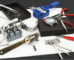 6b76cb4cd4 腕時計工具16点セット! ウォッチメンテナンスツール バンド・電池交換/バンド調整