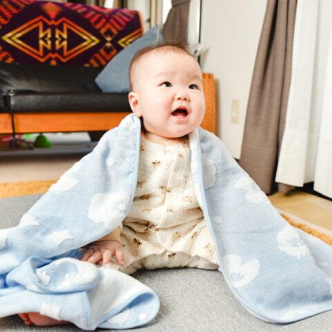 今治タオル パイルとガーゼのダブルフェイス ベビーガーゼケット/ガーゼタオル(ベビーサイズ 59cm×100 cm) SMILELOVE 安心の日本製 【綿100%のふわふわ柔らかい高級国産品/新生児や赤ちゃんの内祝や出産祝い、お祝いなどプレゼントにおすすめ】