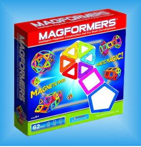 【送料無料】Magformers(マグフォーマー)62ピースセット/62 piece set  マグネット 磁石 ...