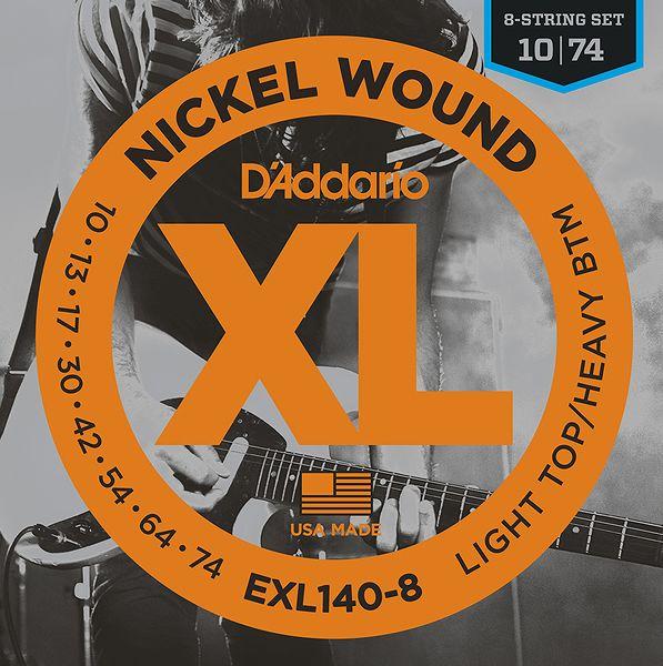 ギター用アクセサリー・パーツ, エレキギター弦 5 DAddario EXL140-8 8LIGHT TOPHEAVY BOTTOM10-745smtb-TK2