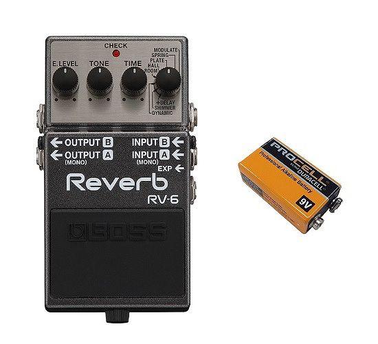 ギター用アクセサリー・パーツ, エフェクター  BOSS RV-6(9VDURACELL PROCELL 006P) Reverb smtb-TK7