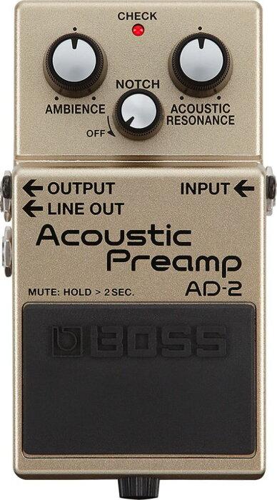 【ポイント10倍】【送料無料】ボス BOSS AD-2 Acoustic Preamp エレアコ用プリアンプ【smtb-TK】