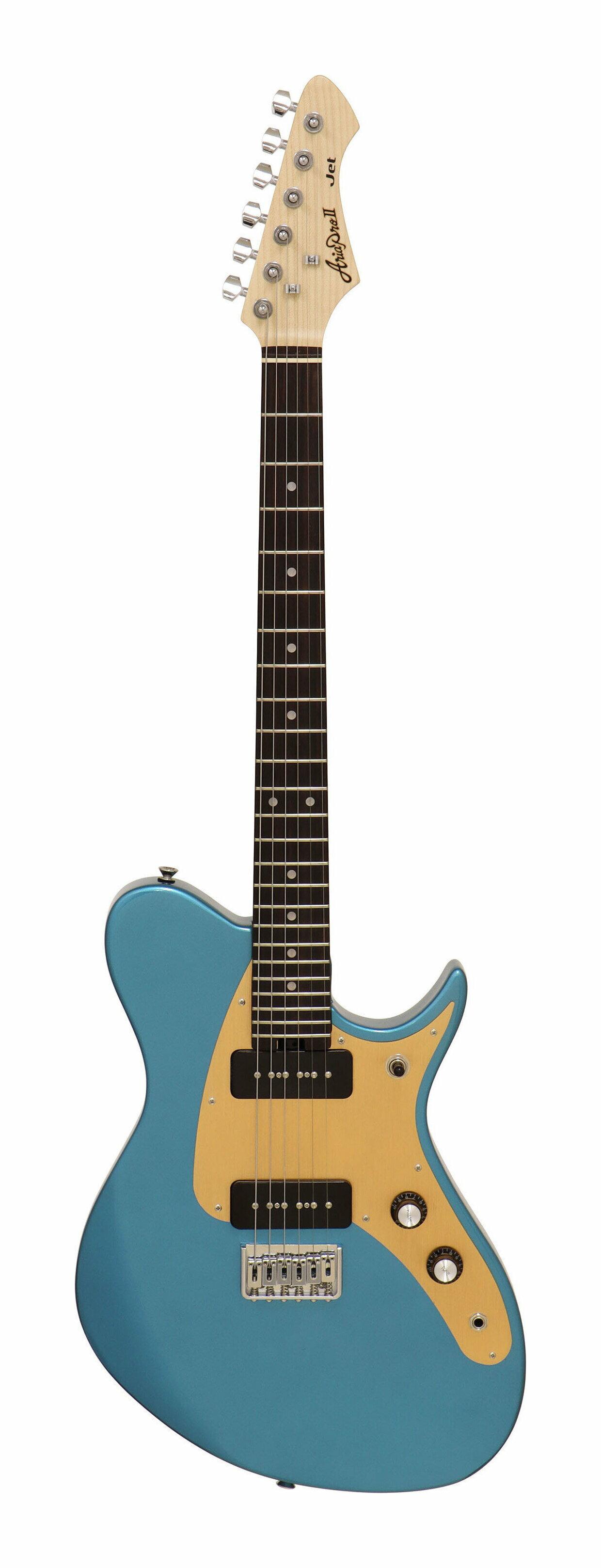 ギター, エレキギター AriaProII Jet LPBL(Lake Placid Blue) smtb-TK5