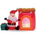 【送料無料】エアーディスコライトディスプレイサンタと暖炉WG-6511サンタクロースエアーディスプレイ室内用クリスマスディスプレイクリスマスイルミネーションクリスマス電飾