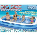 【送料無料】エアープール2.6m(262X172X50cm)JL010291【レジャー・スポーツ・アウトドア】ビニールプール・ジャンボプール・子供用プール
