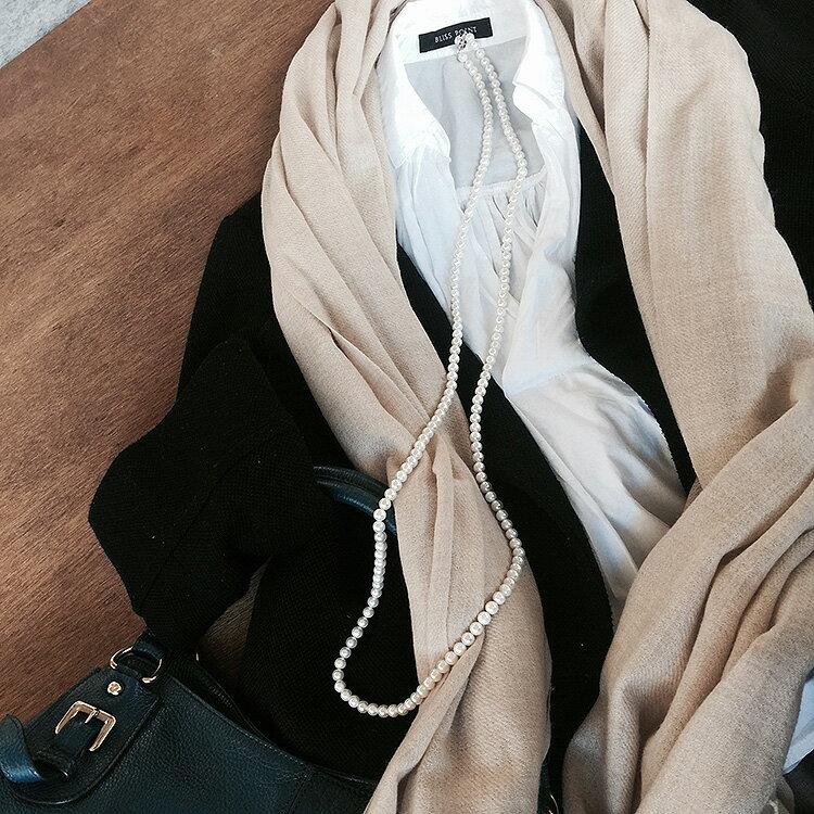 パール ロング ネックレス 真珠 冠婚葬祭 グレー ピアス セット イヤリング 葬儀 黒真珠 フォーマル 卒業式 入学式 おすすめ 貝パール 入園式 卒園式 7mm120cm