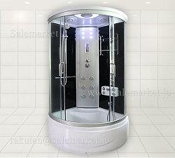 2年保証!組立出張サービス有!ショールーム商品展示アルミ柱付機能充実ホテル/別荘/ログハウス/家庭用浴槽、シャワーブース、シャワールーム、シャワーユニット1010-RAK-30