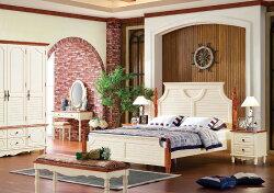 最安値!カントリーデザイン家具!ベッド(L2140×W1914×H1460)