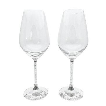 【SWAROVSKI CRYSTALLINE TOASTING FLUTE】白ワイングラス ペアセット 結婚祝い 名入れ 贈り物 名前入り オーダーメイド グラス ペア 送料無料 ギフト 結婚記念日 両親 カップル ペアギフト