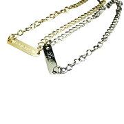 プレート ネックレス ドッグタグ シルバー ゴールド プレゼント バースデー