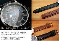 ディズニー腕時計ノーブルミッキー腕時計全2色Disney本牛革ベルトスワロフスキー使用限定