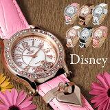 【再入荷】【ランキング受賞】Disney ディズニー ミッキーハートチャーム腕時計 本牛革ベルト/スワロフスキー【レビューを書いて特別価格に】【あす楽対応】【HLSDU】【RCP】