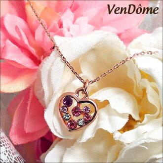 24錢加工多斯通心項鏈大小的石頭描寫溫柔的印象的大人珠寶施華洛世奇使用名牌VenDome