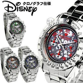迪士尼手錶米奇手錶鐘表Disney米奇全部骨架表盤50M防水計時儀維修工手錶高級感不銹鋼皮帶施華洛世奇限定骨架序號Disney Mickey Mouse