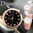 ディズニー 腕時計 本革ベルト ミッキー 腕時計 スワロフスキー SWAROVSKI クリスタル レディース メンズ ユニセックス ペア 時計 Disney 革 ベルト WATCH ウォッチ 全3色 レザー クォーツ式 限定 ギフト