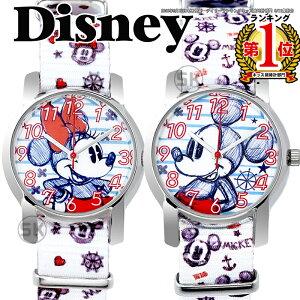 【1年保証有】ディズニー 腕時計 NATO ベルト ミッキー ミニー MICKEY MINNINE ミニーちゃん ステンレス 裏蓋 ベルト キッズ 大人ディズニー シリアルナンバー入り 時計 Disney WATCH 子供用 キッズ 女性用 KIDS【送料無料】