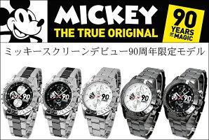 ディズニー腕時計ミッキー生誕90周年記念キッズレディーズスケルトン女の子コラボグッズ限定90周年回転ベゼルクロノグラフモデルDISNEYうで時計時計WATCH