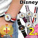 【本日限定P2倍】【あす楽】【1年保証有】ディズニー 腕時計 ミッキー NATOタイプ ストラップ Disney ベ...