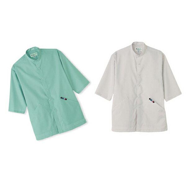 ●stand-up collar shirt MB-1033 スタンドカラーシャツ 男女兼用 C-9/グレー