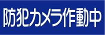 「防犯カメラ作動中」ステッカー3枚セット(W300mm×H100mm)